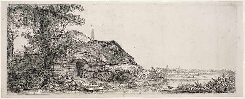Rembrandt Harmensz. van Rijn. Landscape with a Cottage and a Large Tree. 1641. Museum of Fine Arts, Boston. All Rights Reserved