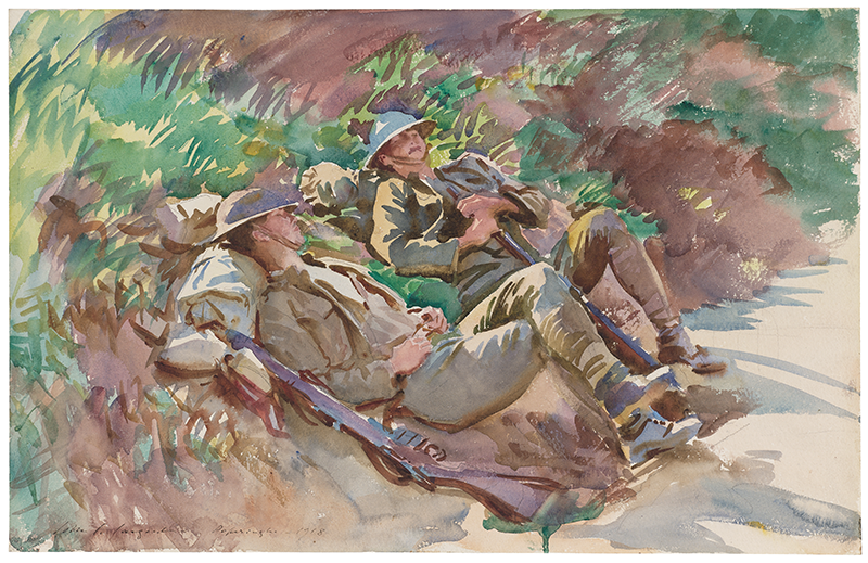 John Singer Sargent. Poperinghe: Two Soldiers. 1918. Museum of Fine Arts, Boston. All Rights Reserved