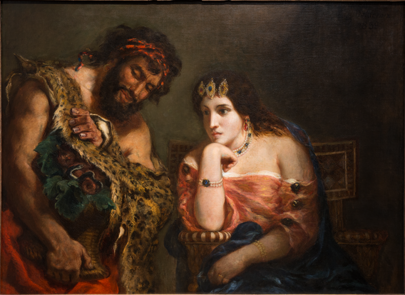 Eugène Delacroix. Cleopatra and the Peasant. 1838. Oil on canvas. Image and data provided by Ackland Art Museum, University of North Carolina at Chapel Hill.