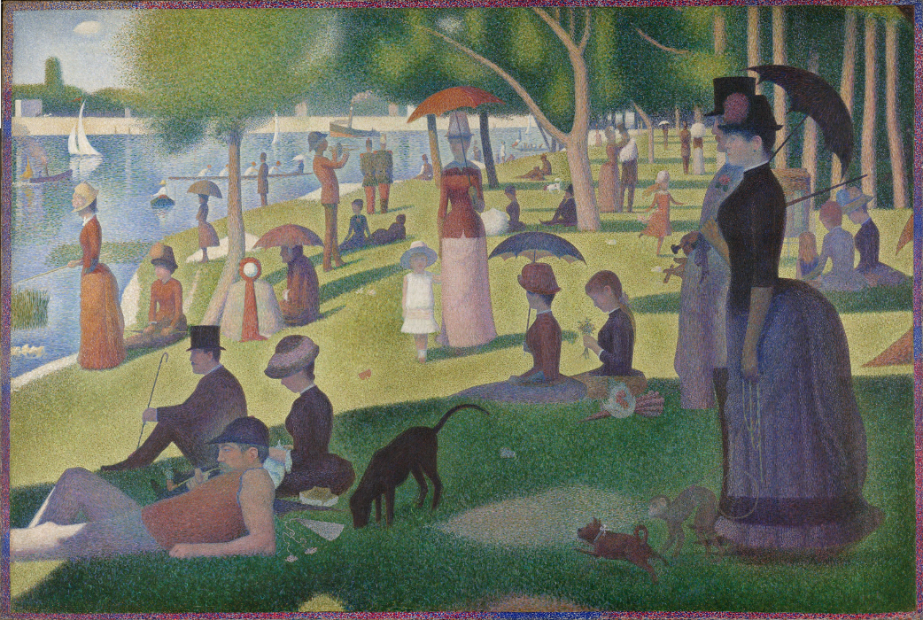 Georges Seurat. A Sunday on La Grande Jatte. 1884-1886. Oil on canvas. Image and original data provided by The Art Institute of Chicago.