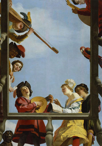 Gerrit van Honthorst, Musical Group on a Balcony, 1622