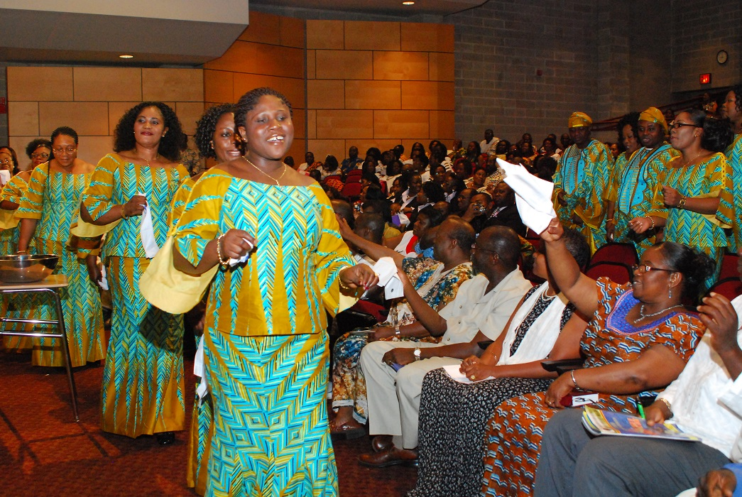Bob Gore. Women singers march, Ghana Choir Festival. 2009. Image and data provided by Bob Gore.
