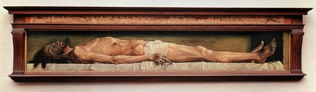 Hans Holbein the Younger. Dead Christ, 1521-1522.