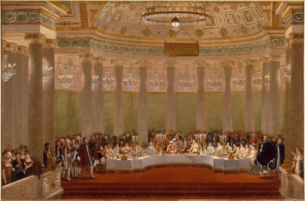 Alexandre Benoît Jean Dufay. Marriage Banquet of Napoleon I and Marie-Louise. 1812.