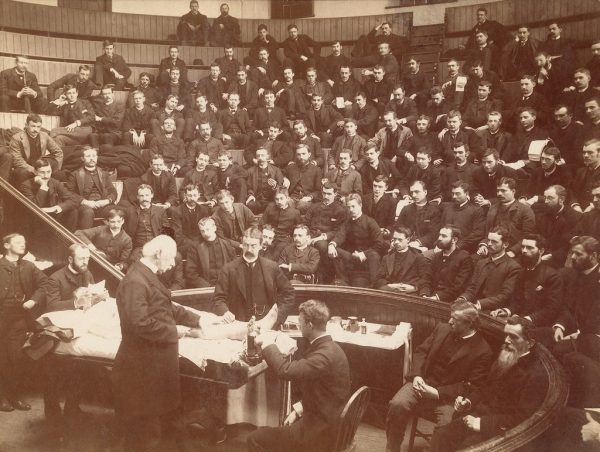 George Chambers. Agnew Clinic, interior, surgery demonstration. March 30, 1886