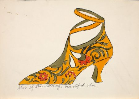 Andy Warhol. Shoe of the evening, beautiful shoe