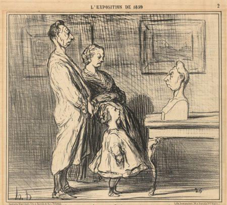 Honoré Daumier. L'Exposition de 1859: Dire que je vais être...Exposé... 1859.