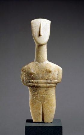 """Cycladic. Female """"Idol."""" c. ca. 2500-2400 BCE, Early Cycladic."""