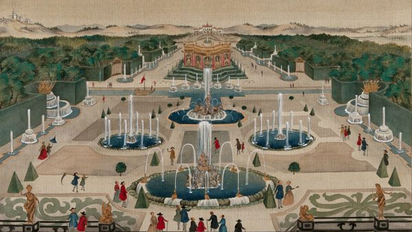 A large palace garden, possibly Versailles, ca. 1850
