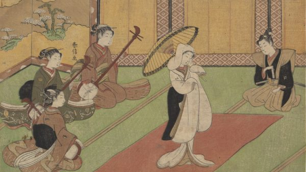 Suzuki Harunobu. Woman Dancer in Daimyo's Palace, Edo period (1615-1868)