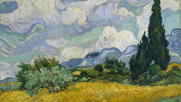Vincent van Gogh. Wheat Field with Cypresses