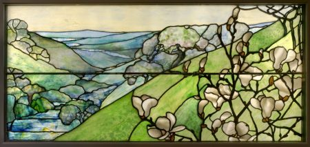 Tiffany Studios. Landscape window.1910-1920.