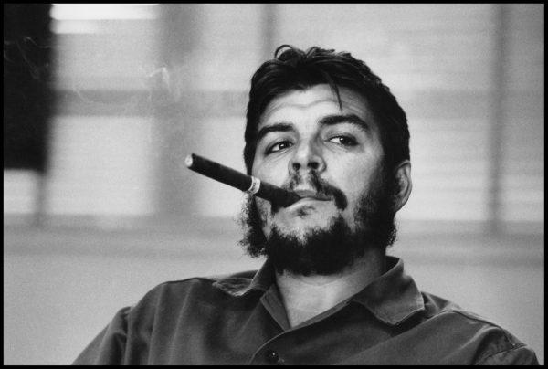 Rene Burri, Ernesto Che Guevara during an exclusive interview in his office in Havana, Cuba. (1963)