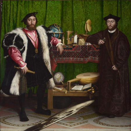 Painting of Jean de Dinteville and Georges de Selve