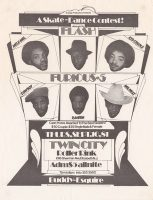 Twin City Roller Rink event flyer, Sept. 10, 1981, featuring Grandmaster Flash and the Furious 5, plus other Hip Hop performers.