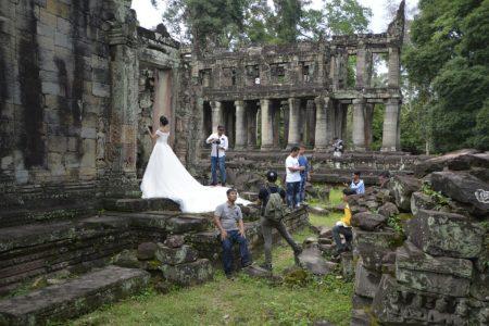 """Preah Khan, """"Royal Sword"""" monastic complex."""