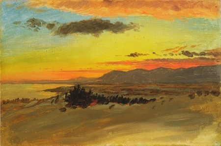 Frederic Edwin Church. Hudson River Valley in Winter Looking Southwest from Olana. c. 1870-1880.