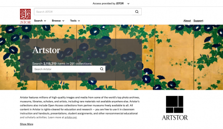 Screen capture of Artstor on JSTOR