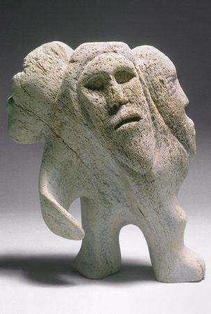 Unknown artist, Inuit. Shamanistic Spirit Figures. 1964.